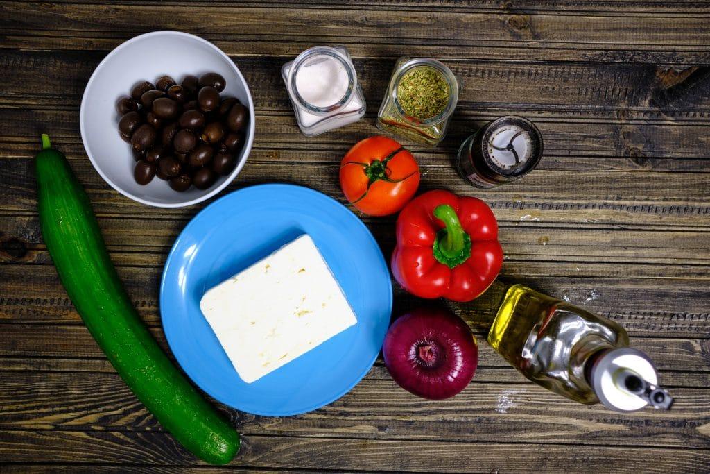 Sałatka grecka - składniki.